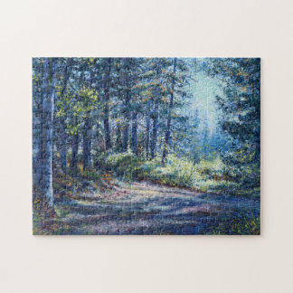 """Evening Light On the Trail"" Jigsaw Puzzle"