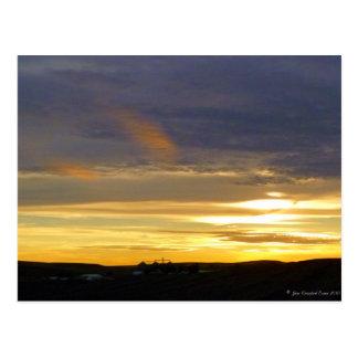 Evening light postcard
