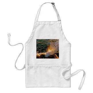 EVENING LIGHT WITH BREAKING WAVES AT THE OCEAN ADULT APRON