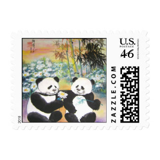 evening love story postage stamp