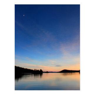 Evening Moon over Quabbin Reservoir Postcard