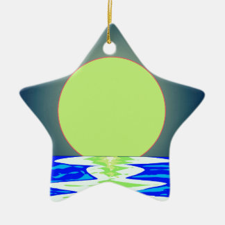 Evening Ocean Reflections Ceramic Ornament