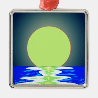 Evening Ocean Reflections Metal Ornament