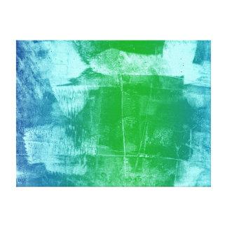 Evening Ocean Sky Blue Green Abstract Canvas Print
