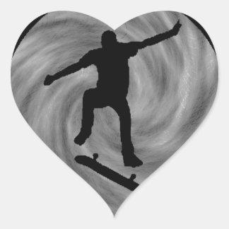 EVENING OF SKATEBOARDING HEART STICKER