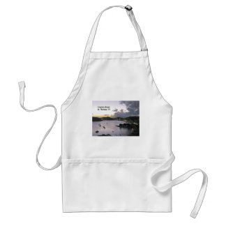 Evening on Charlotte Amalie, St. Thomas VI Adult Apron