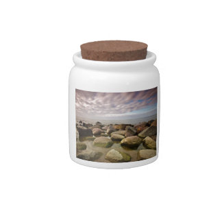 Evening on shore of the Baltic Sea Candy Jars