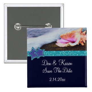Evening On The Beach Date Saver Pinback Button