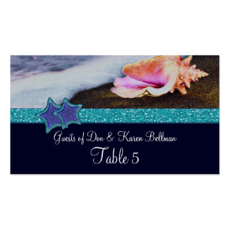Evening On The Beach Table Double-Sided Standard Business Cards (Pack Of 100)