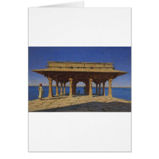 Evening on the lake. One of the pavilions Greeting Card