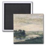 Evening on the Oise, 1872 Fridge Magnets
