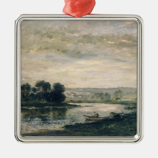Evening on the Oise, 1872 Ornaments