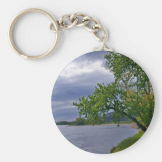 Evening On The River Keychain