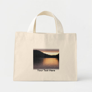 evening on the water, Your Text Here Mini Tote Bag