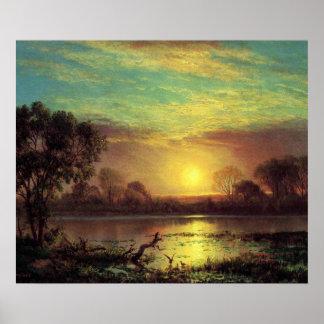 Evening, Owens Lake California by Albert Bierstadt Poster