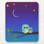 Evening Owls - mousepad