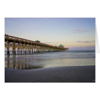 Evening Peace On Folly Beach Card
