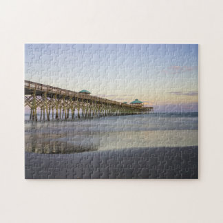Evening Peace On Folly Beach Jigsaw Puzzle