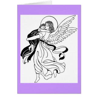 Evening Prayer Angel Greeting Card