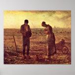 Evening Prayer by Jean-Francois Millet Poster
