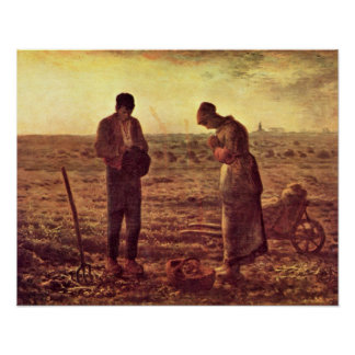 Evening Prayer by Jean-Francois Millet Posters