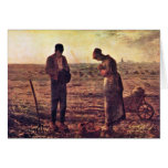 Evening Prayer By Millet  (Best Quality) Greeting Card