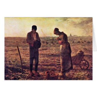 Evening Prayer By Millet  (Best Quality) Card
