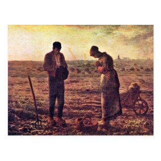 Evening Prayer By Millet  (Best Quality) Postcard