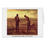 Evening Prayer By Millet (Ii) Jean-Francois Greeting Card