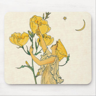 Evening Primrose by Walter Crane, 1889 Mouse Pads