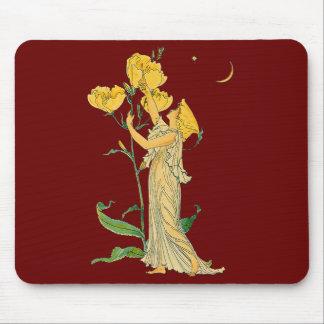 Evening Primrose by Walter Crane, 1889 Mousepad