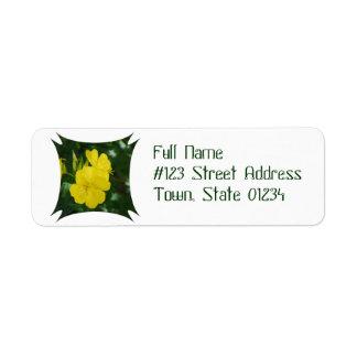Evening Primrose  Return Address Mailing Label Return Address Label