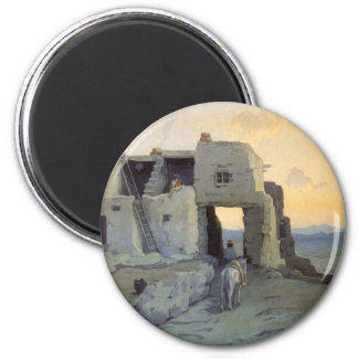 Evening, Pueblo of Walpi by Marion Kavagh Wachtel 2 Inch Round Magnet