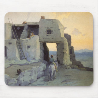 Evening, Pueblo of Walpi by Marion Kavagh Wachtel Mouse Pad