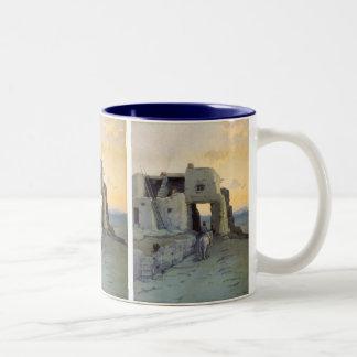 Evening, Pueblo of Walpi by Marion Kavagh Wachtel Two-Tone Coffee Mug