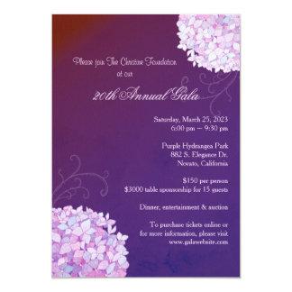 Evening Purple Hydrangeas Annual Gala Card