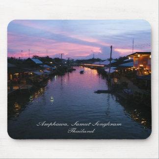 Evening Reflections At Amphawa, Thailand Mouse Pad