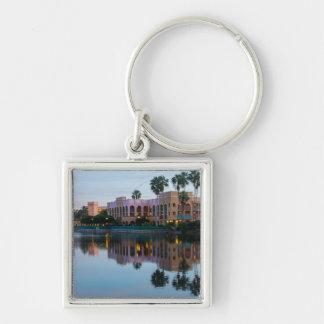 Evening Resort Reflections Keychain