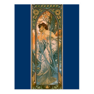 Evening Reverie - by Alphonse Mucha Postcard