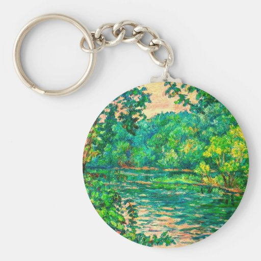 Evening River Motion Keychains