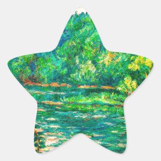 Evening River Motion Star Sticker