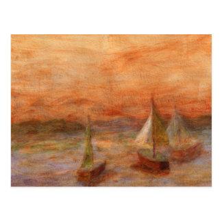 Evening Sail, Postcard