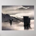 Evening sailboats, Ohara Koson Print