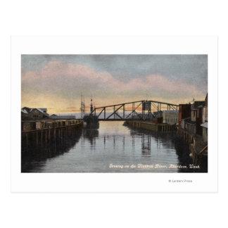 Evening Scene on Wishkah River Postcard