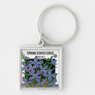 Evening Scented Stocks Keychain
