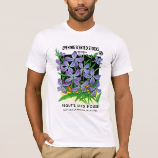 Evening Scented Stocks Seed Packet Label T-Shirt