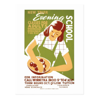 Evening School: Classes for Adults Postcard