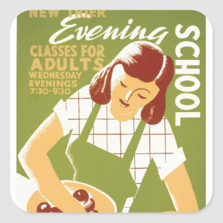Evening School: Classes for Adults Square Sticker