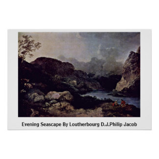 Evening Seascape By Loutherbourg D.J.Philip Jacob Print