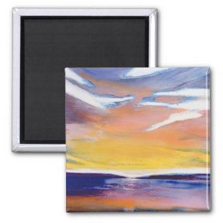Evening seascape magnet